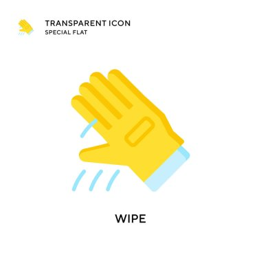 Wipe vector icon. Flat style illustration. EPS 10 vector. icon