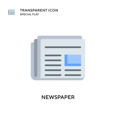 Newspaper vector icon. Flat style illustration. EPS 10 vector.