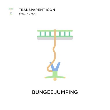 Bungee jumping vector icon. Flat style illustration. EPS 10 vector.