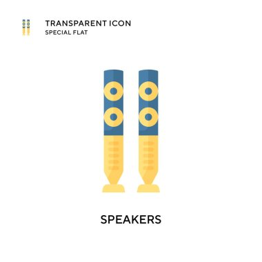 Speakers vector icon. Flat style illustration. EPS 10 vector.