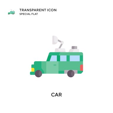 Car vector icon. Flat style illustration. EPS 10 vector.