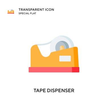 Tape dispenser vector icon. Flat style illustration. EPS 10 vector. icon