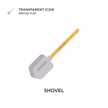 Shovel vector icon. Flat style illustration. EPS 10 vector.