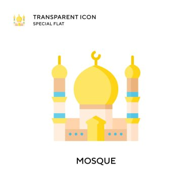 Mosque vector icon. Flat style illustration. EPS 10 vector.