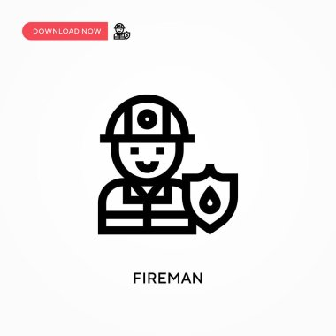 Fireman Simple vector icon. Modern, simple flat vector illustration for web site or mobile app icon