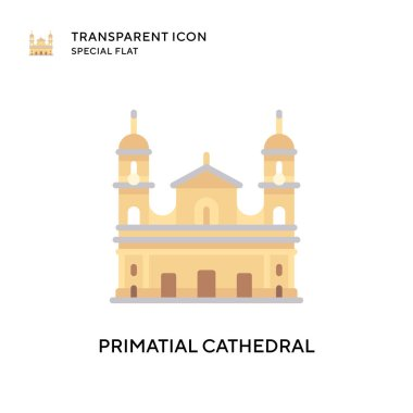 Primatial cathedral vector icon. Flat style illustration. EPS 10 vector.