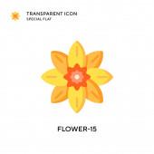 Vektorová ikona Flower-15. Ilustrace plochého stylu. EPS 10 vektor.