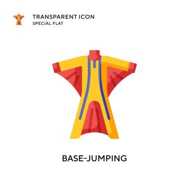 Base-jumping vector icon. Flat style illustration. EPS 10 vector.