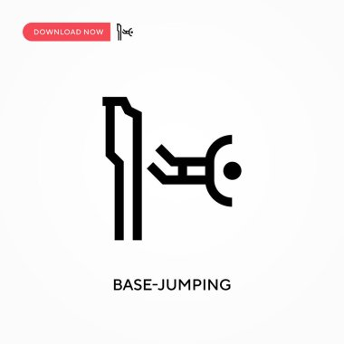 Base-jumping vector icon. . Modern, simple flat vector illustration for web site or mobile app
