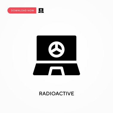 Radioactive vector icon. . Modern, simple flat vector illustration for web site or mobile app
