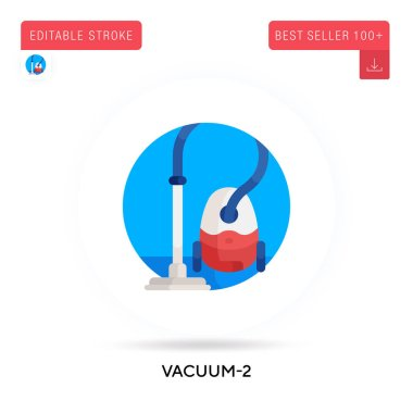 Vacuum-2 detailed circular flat vector icon. Vector isolated concept metaphor illustrations. icon