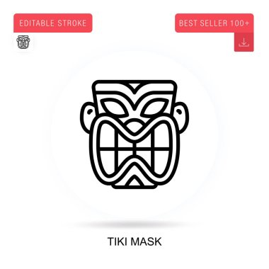 Tiki mask vector icon. Vector isolated concept metaphor illustrations. icon