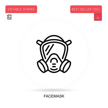 Facemask flat vector icon. Vector isolated concept metaphor illustrations. icon