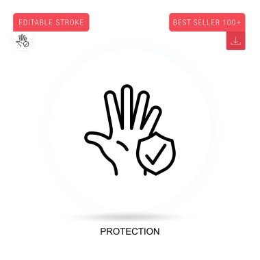 Protection flat vector icon. Vector isolated concept metaphor illustrations. icon