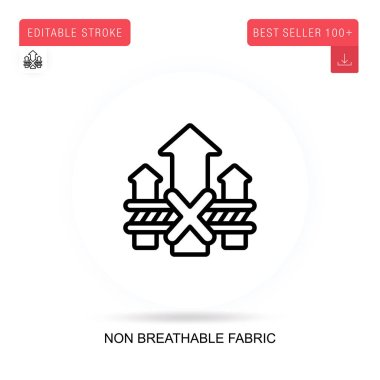 Non breathable fabric flat vector icon. Vector isolated concept metaphor illustrations. icon