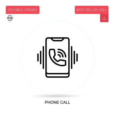 Phone call flat vector icon. Vector isolated concept metaphor illustrations. icon