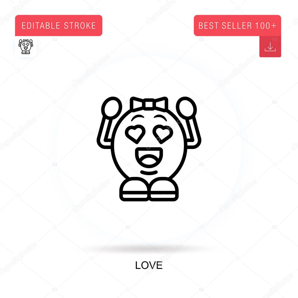 Love flat vector icon. Vector isolated concept metaphor illustrations. icon