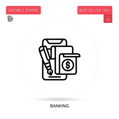 Banking flat vector icon. Vector isolated concept metaphor illustrations. icon