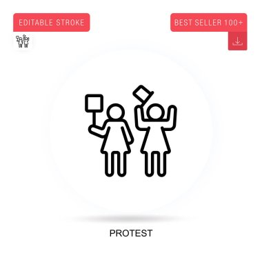 Protest flat vector icon. Vector isolated concept metaphor illustrations. icon
