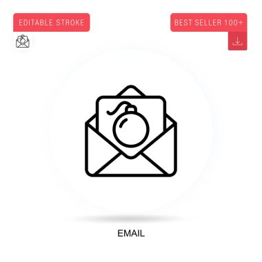 Email flat vector icon. Vector isolated concept metaphor illustrations. icon