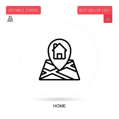 Home flat vector icon. Vector isolated concept metaphor illustrations. icon
