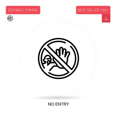 No entry flat vector icon. Vector isolated concept metaphor illustrations. icon
