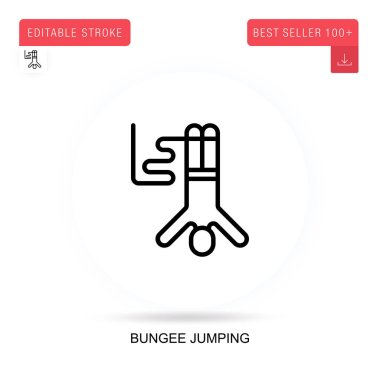 Bungee jumping flat vector icon. Vector isolated concept metaphor illustrations.