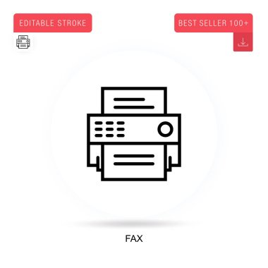 Fax flat vector icon. Vector isolated concept metaphor illustrations. icon