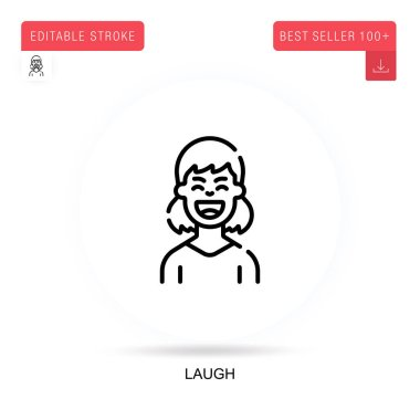 Laugh flat vector icon. Vector isolated concept metaphor illustrations. icon