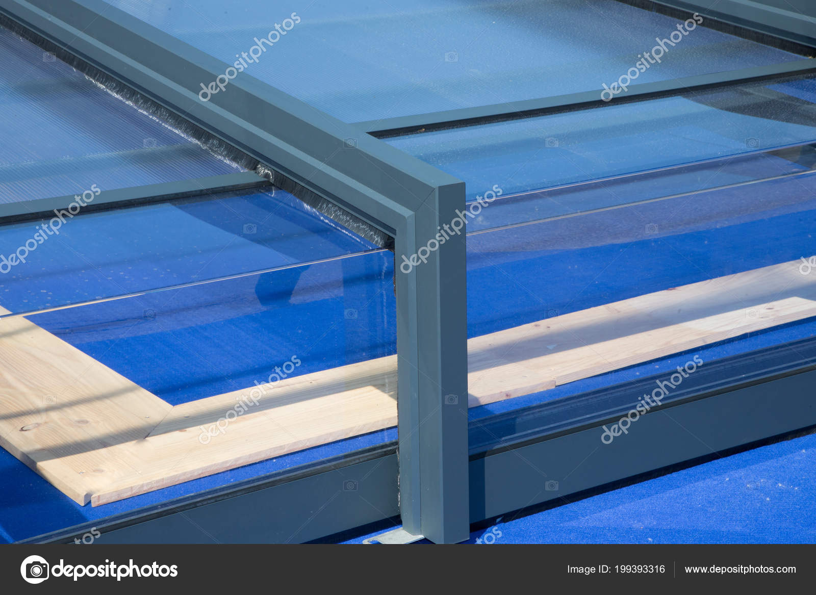 Outdoor Swimming Pool Detail Shelter Roof — Stock Photo ...