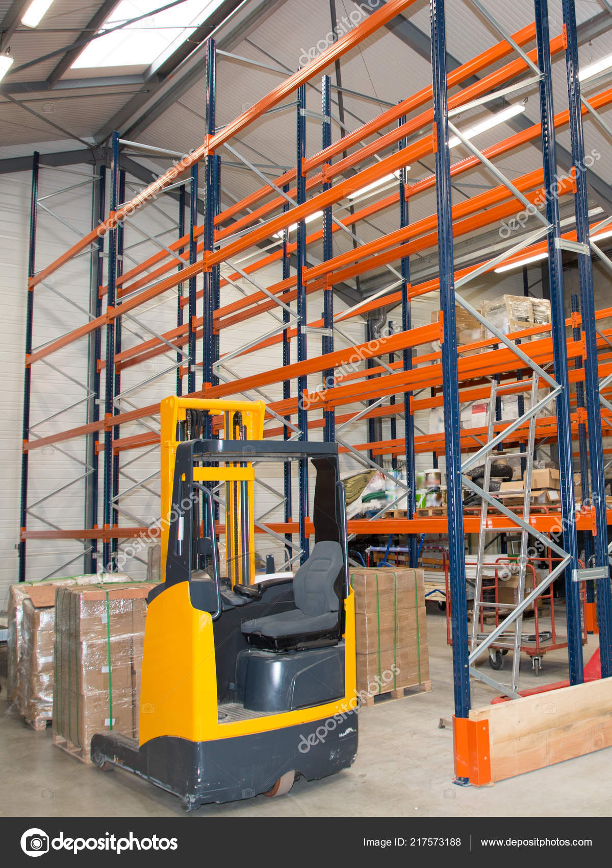 Forklift Loading Pallet Transport Business Delivery Shelves