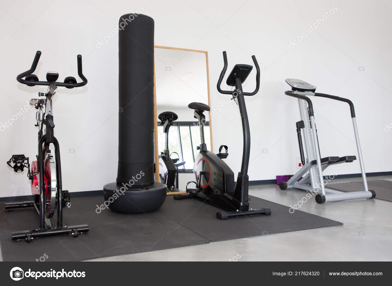 Row sports equipment empty modern gym room fitness center u stock