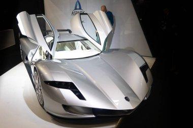 Paris, Ile de France / France - October 07 2018 : Mondial Paris Motor Show Aspark OWL Electric Super Car