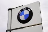Bordeaux , Aquitaine / France - 10 27 2019 : Logo store pole car BMW dealership sign shop
