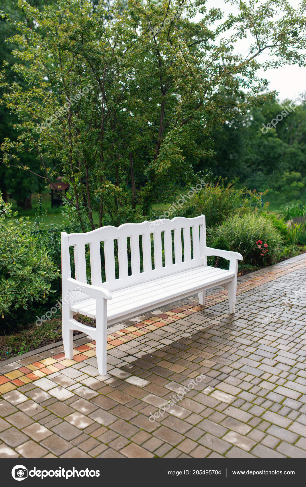 Wondrous Lounge Area Guests Wedding Decor White Bench Park Stock Andrewgaddart Wooden Chair Designs For Living Room Andrewgaddartcom