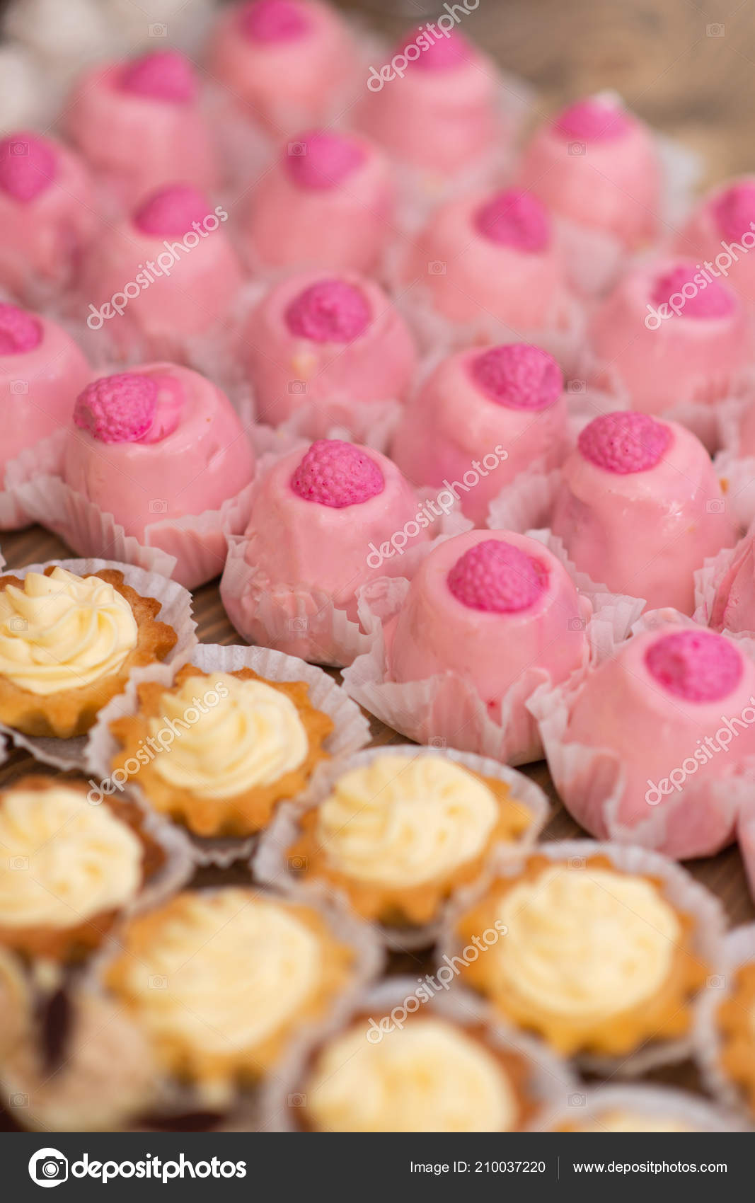 Pink Yellow Cupcakes Banquet Table Wedding Table Setting