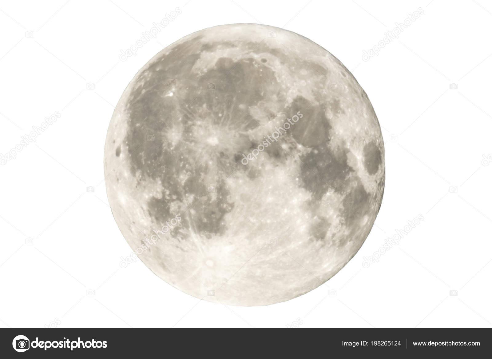 Luna con sfondo bianco