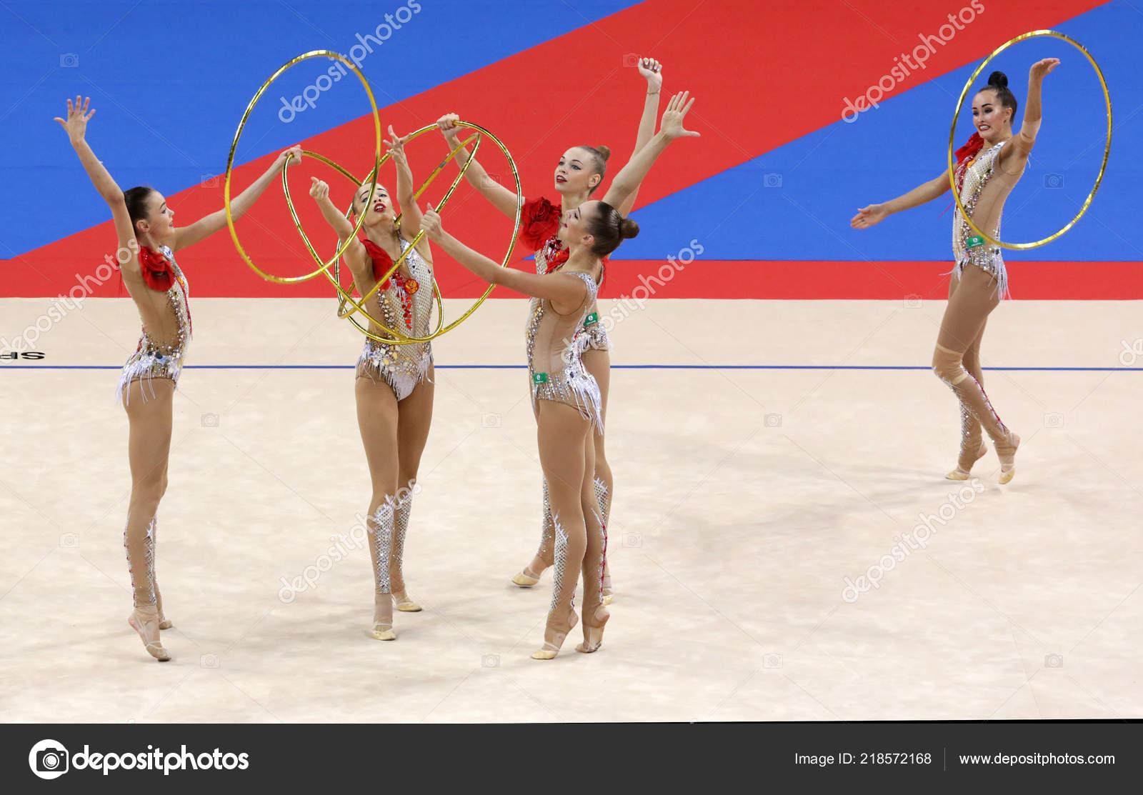 Sofia Bulgaria September 2018 Team Russian Federation Performs 2018