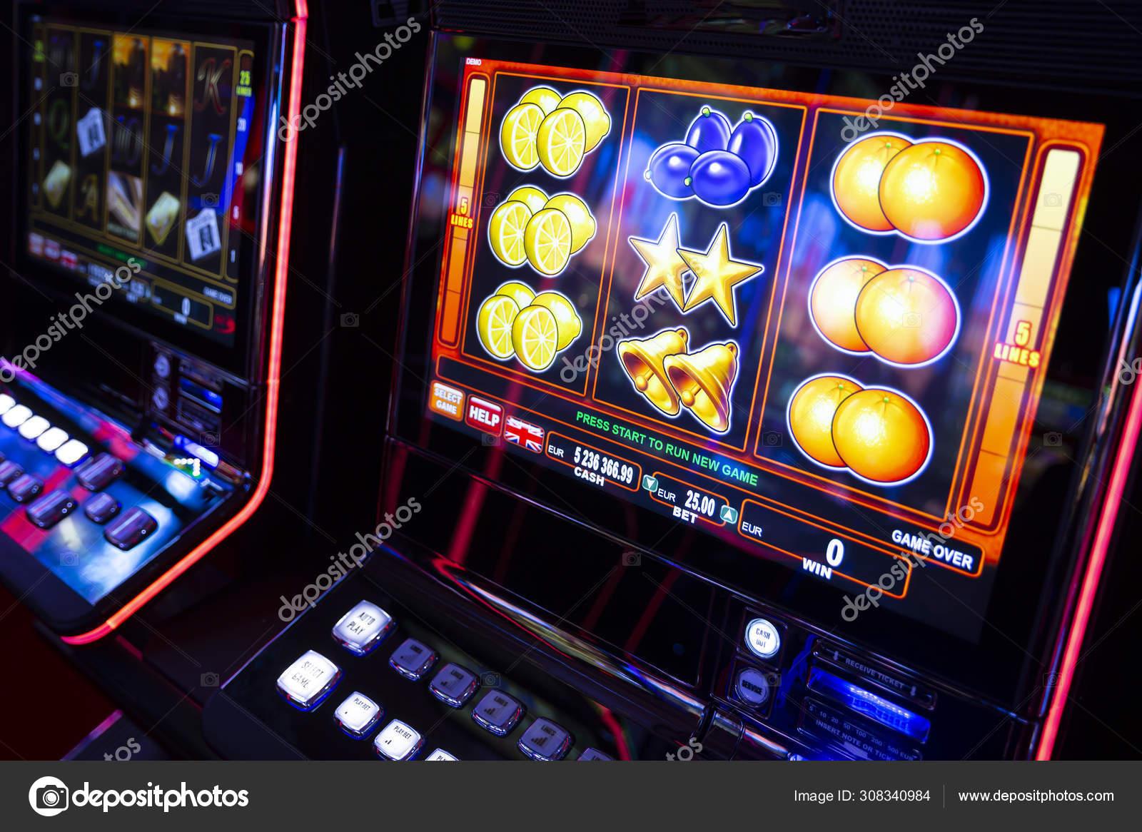 Computer Monitor Of Slot Machines In Casino Stock Photo C Belish