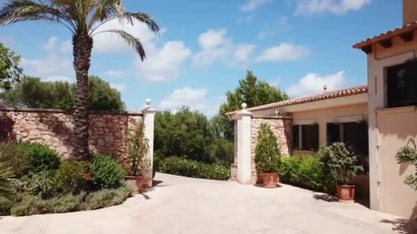 Courtyard of luxury house in Spain