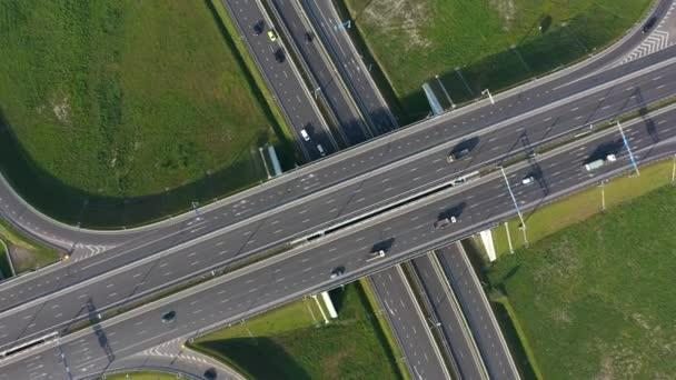 Légi felvétel a kalinyingrádi útkereszteződésről, Oroszország