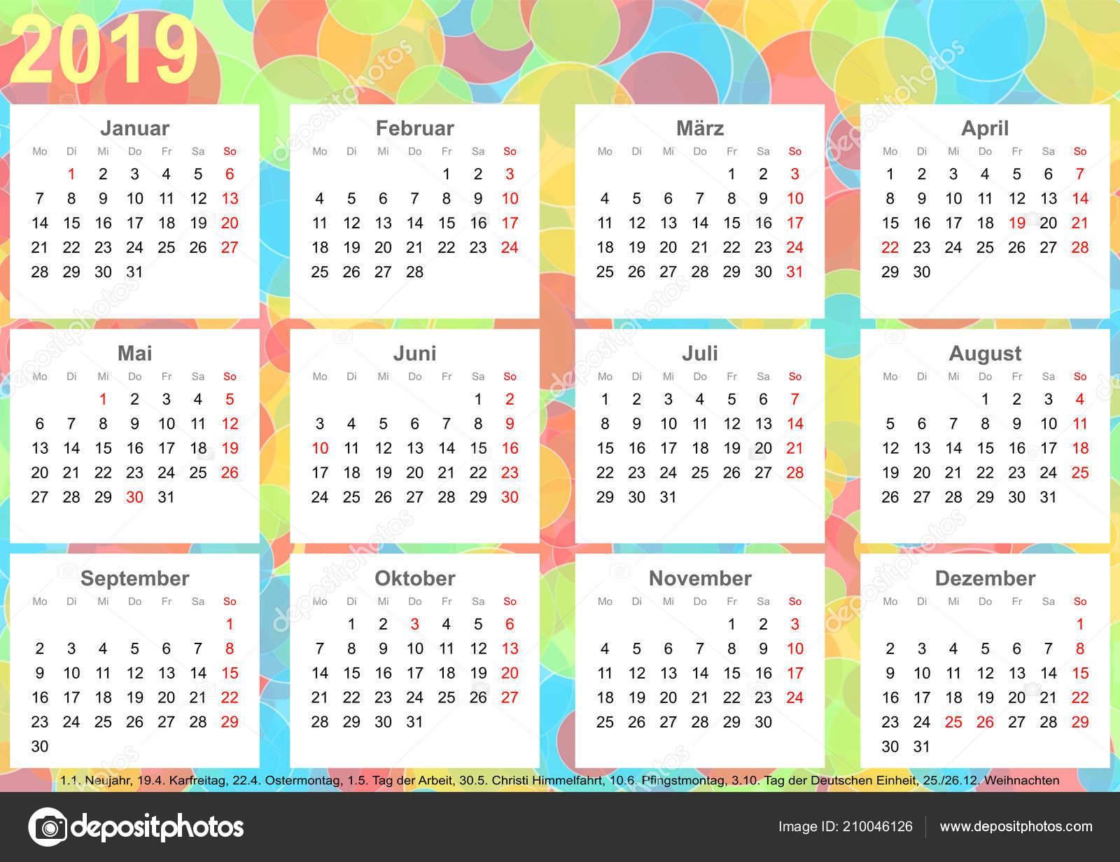 Calendario Con Giorni Festivi.Foto Calendario 2019 Sfondo Calendario 2019 Con Cerchi