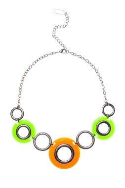 round necklace on a white background