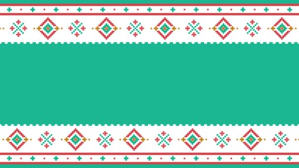 Text placeholder. Traditional Lapland vector pattern, Sami people folk art design, knitting and embroidery Nordic, Scandinavian retro ornaments from Norway, Sweden, Finland, Ukraine, Poland and Russia