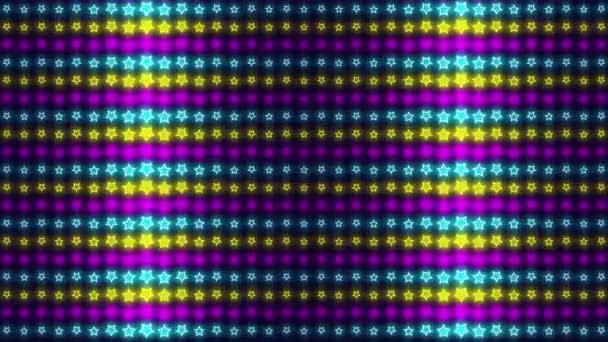 80-as évekbeli neon retro hullám minta, hurkolt animált absztrakt háttér egy szórakoztató party, családi nyaralás, Karácsony, Hálaadás, Húsvét vagy Születésnapi esemény ünneplés.