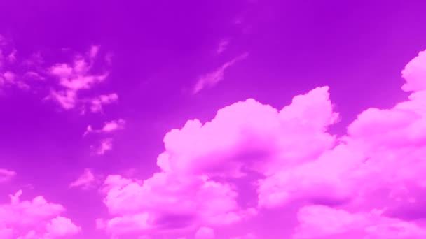 gyönyörű mozgó felhők fényes rózsaszín ég, időeltolódás, természet háttér