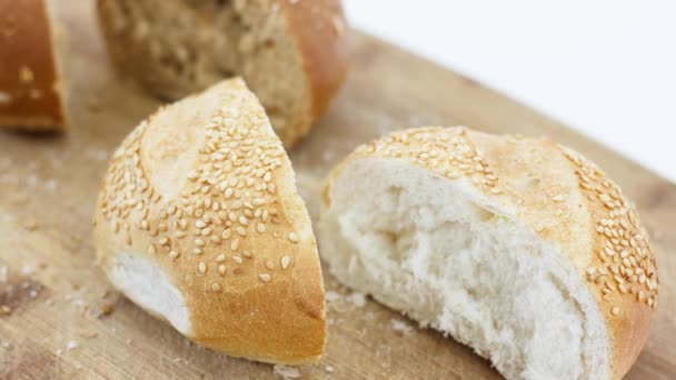 close up view of delicious fresh assortment of bread