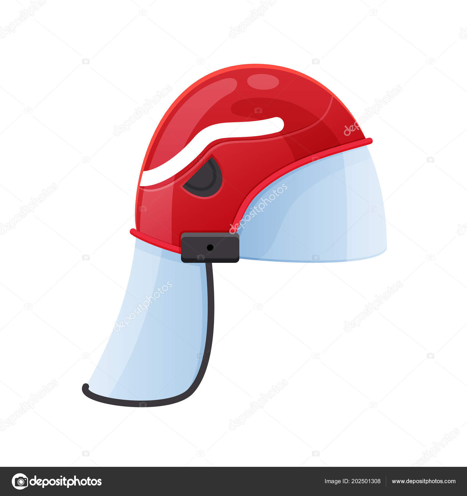 Casco de plástico rojo fuego con vidrio protector. Casco bombero servicio  oficial 32a9c7eb5b16