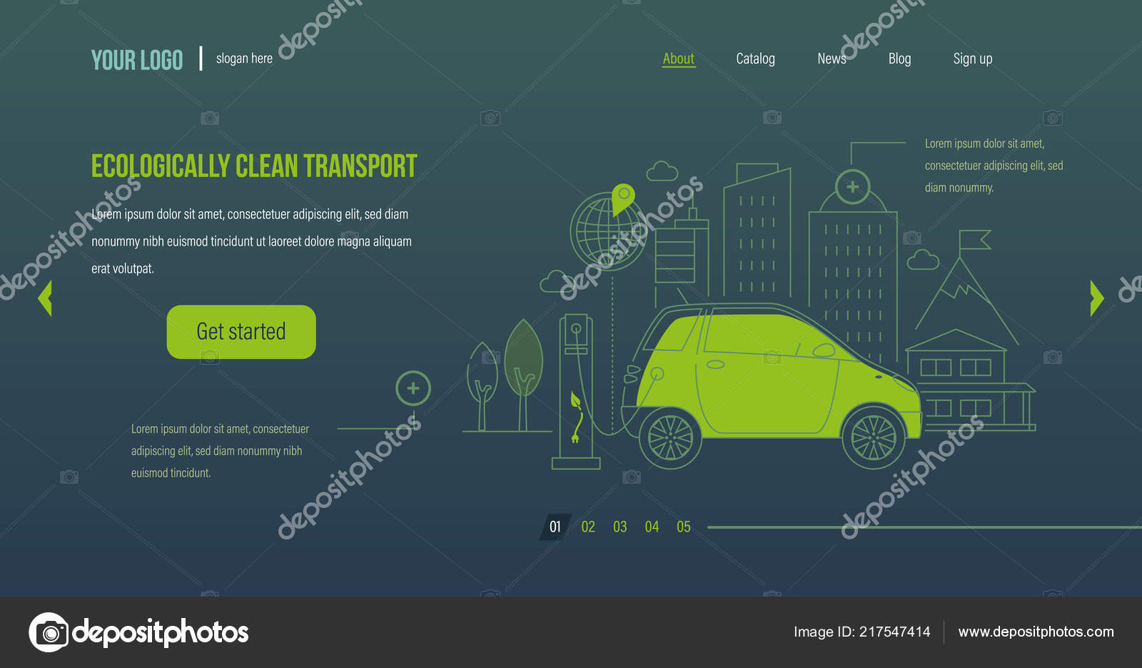 Ecologically Clean Transport Electric Car Machine Near The Charger Diagram Charging Station Stock Vector