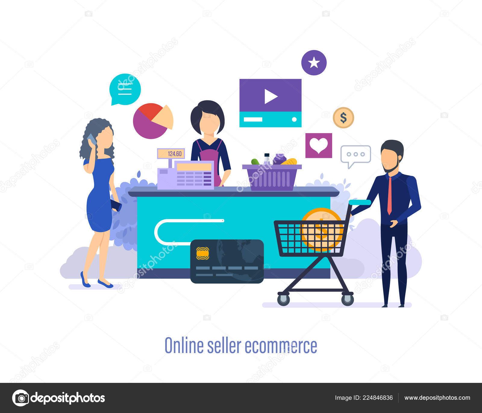 fab20c205f19 Ecommerce online πωλητή. Ψώνια στο κατάστημα